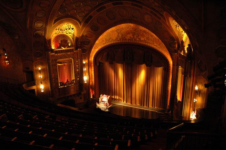 View from the Alabama Theatre's upper right balcony.