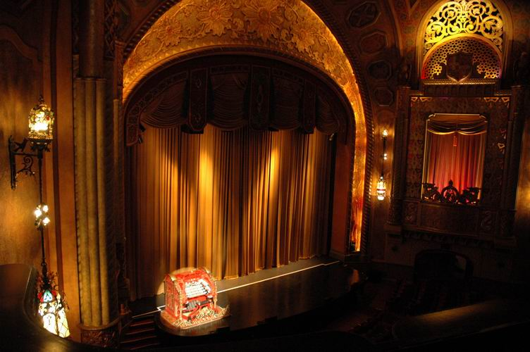 View from the Alabama Theatre's upper left balcony.